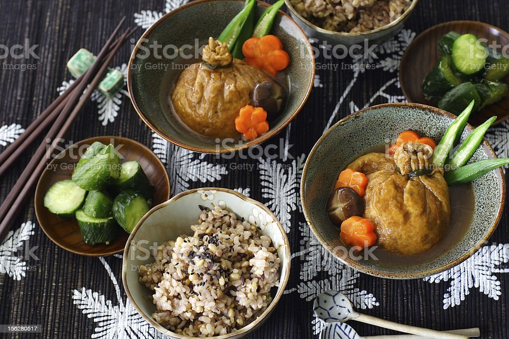 Japanese lunch for two royalty-free stock photo
