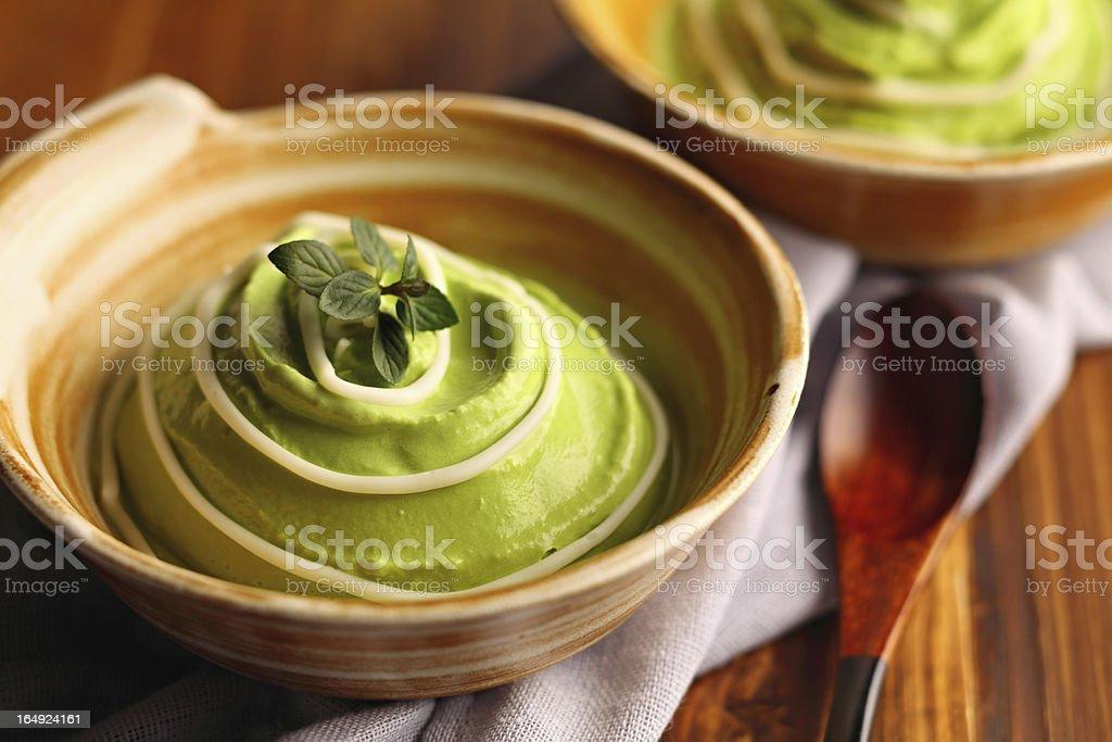 Japanese maccha ice cream stock photo