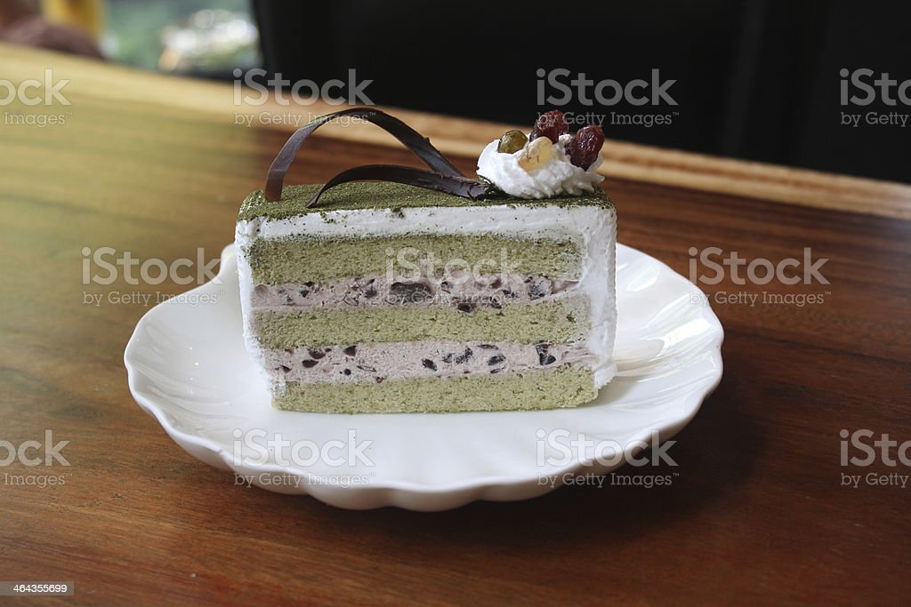 Japanese Macha Cake royalty-free stock photo