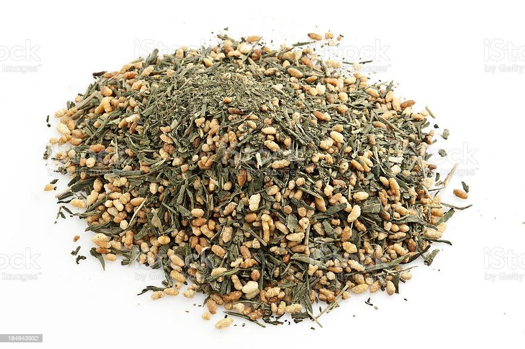 Japanese Macha Gem Mai Bulk Tea royalty-free stock photo