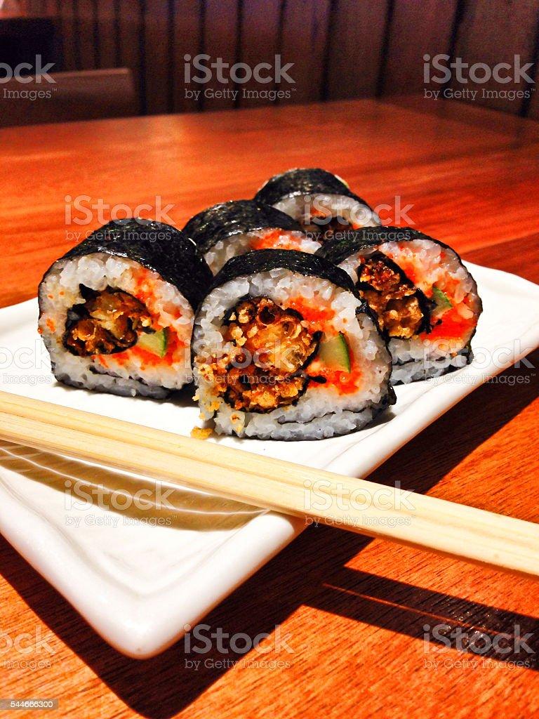 Japanese maki sushi roll 2 stock photo