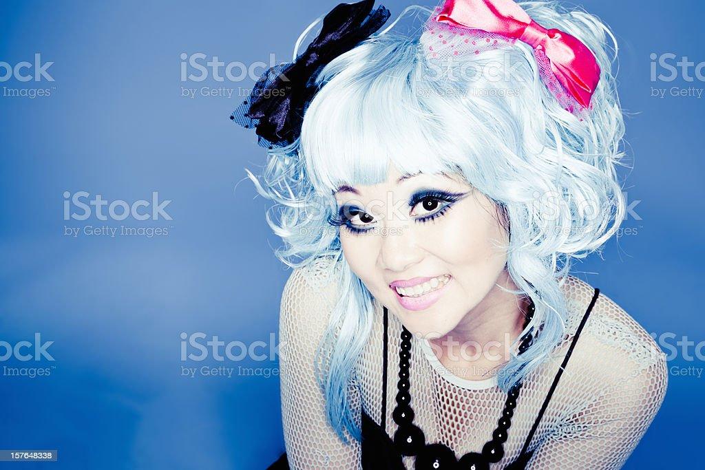 Japanese Manga Girl Portrait royalty-free stock photo