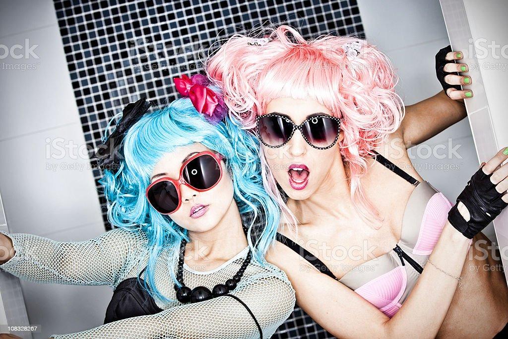 Japanese Manga style girls royalty-free stock photo