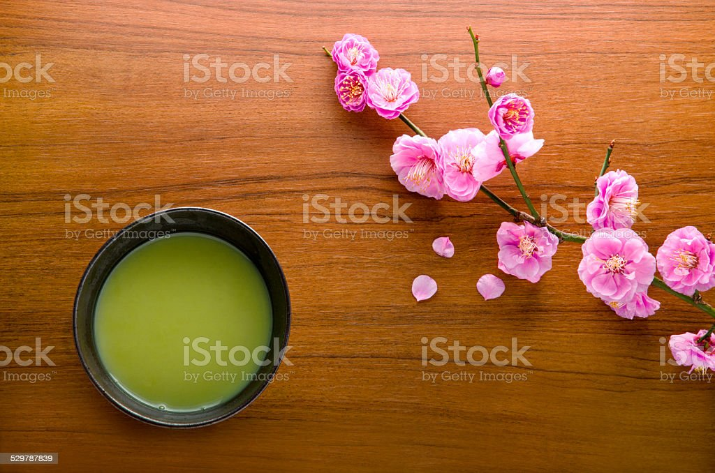 Japanese matcha stock photo