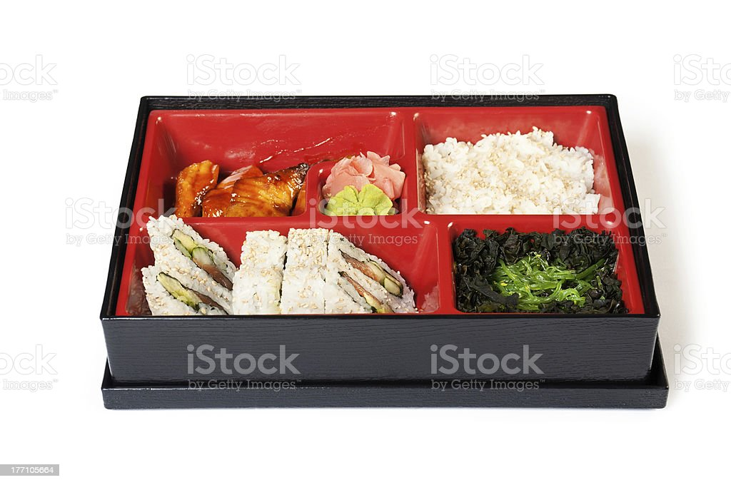 Japanese Meal in a Box (Bento) royalty-free stock photo