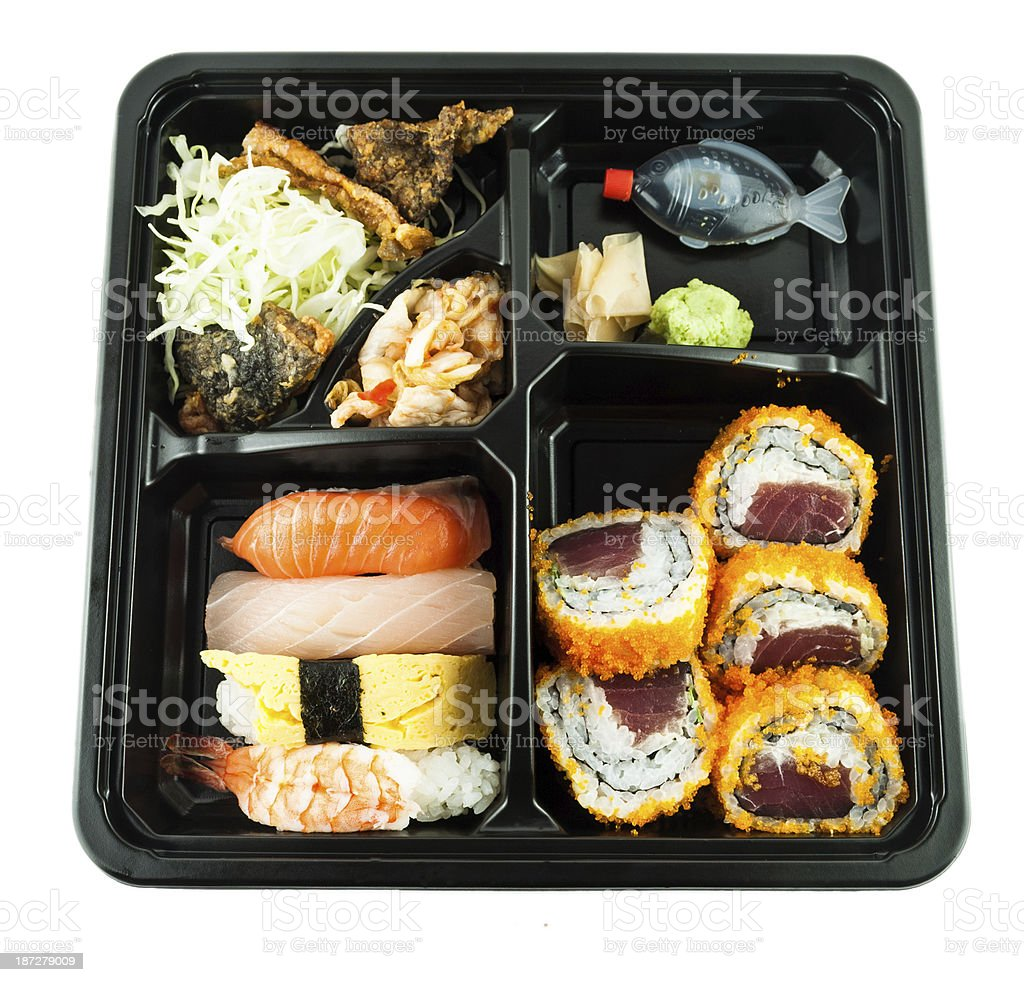 Japanese Meal in a Box stock photo