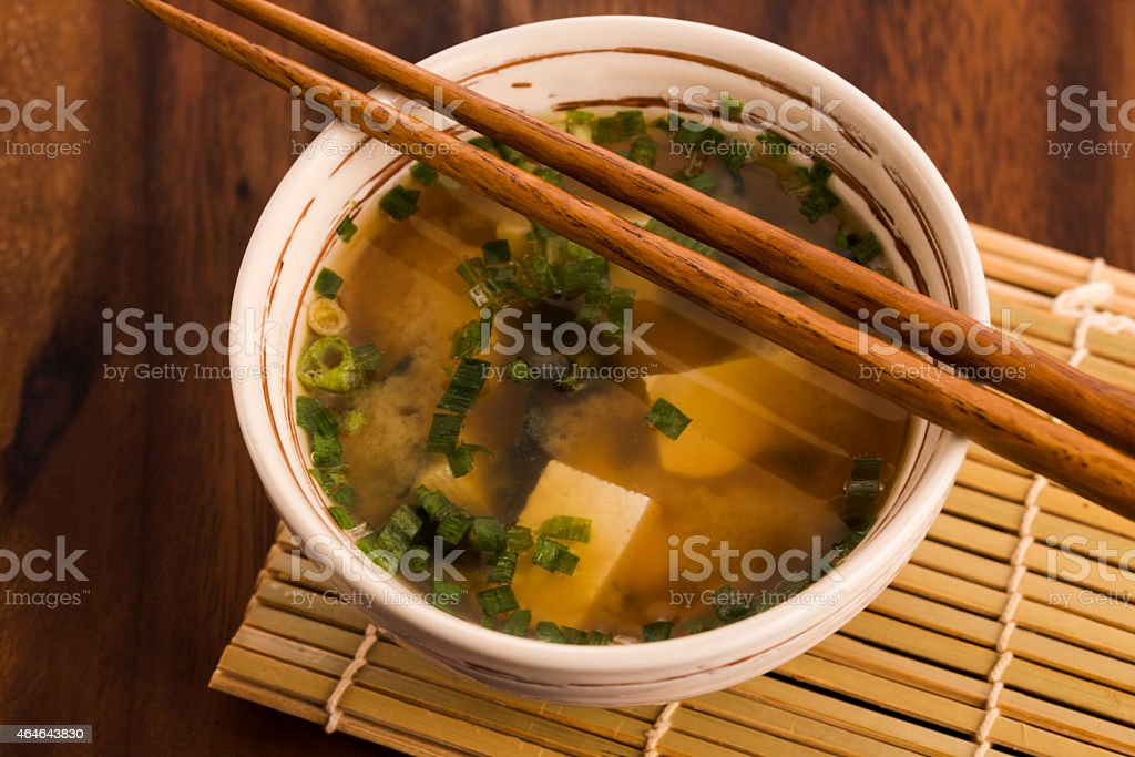 Japanese miso soup stock photo