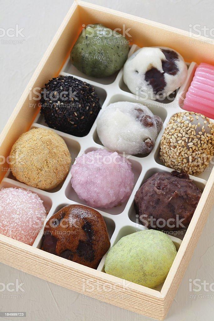 Japanese mochi stock photo