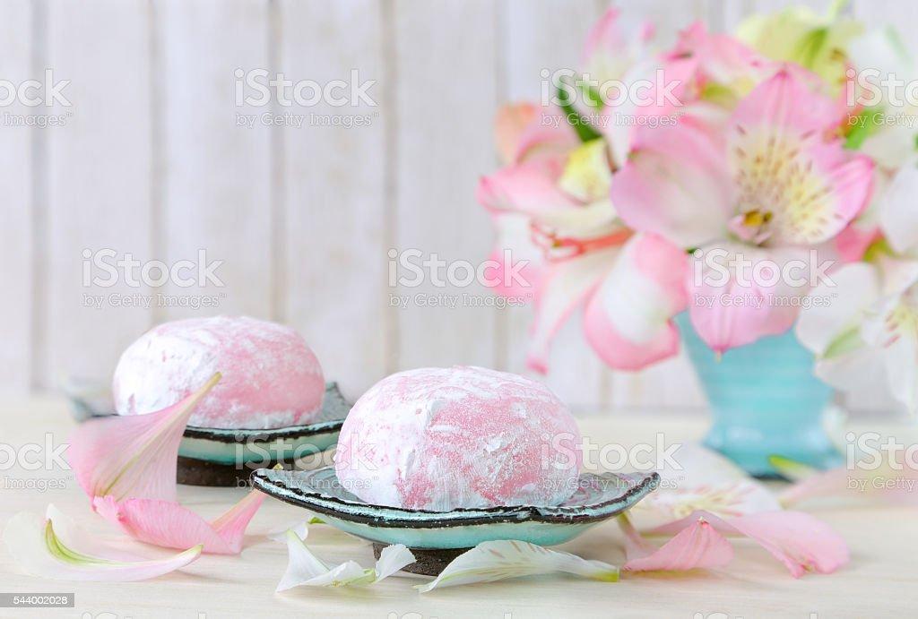 Japanese mochi. stock photo