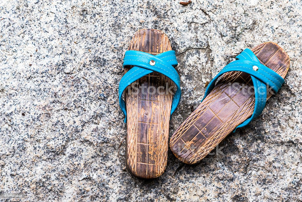 Japanese Monk's Geta - Footwear stock photo