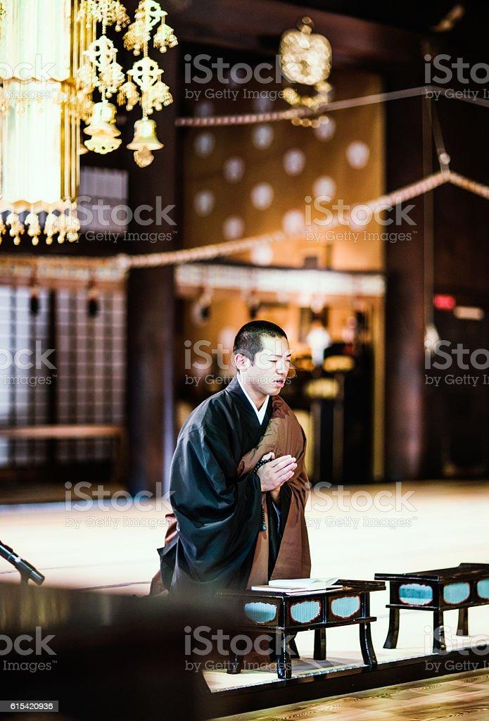 Japanese monks stock photo