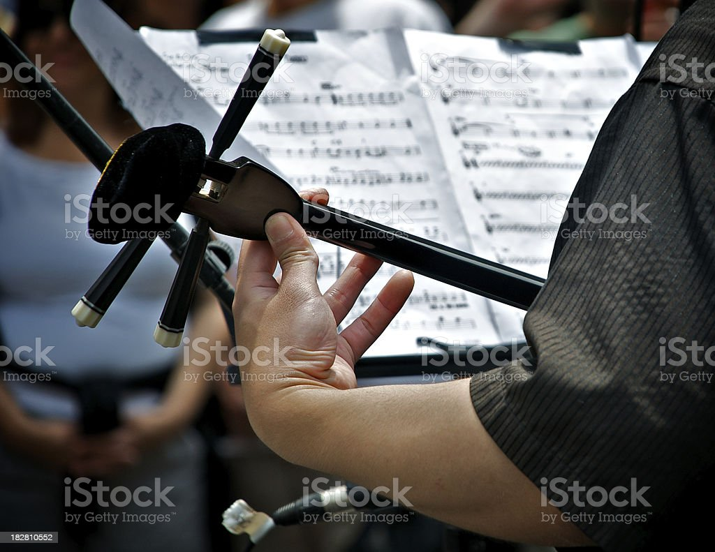 Japanese musician with Samisen stringed instrument stock photo
