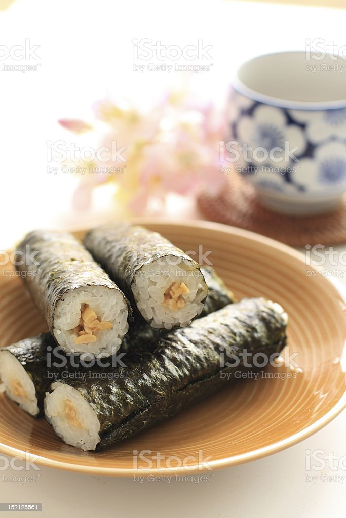 Japanese Natto Sushi royalty-free stock photo