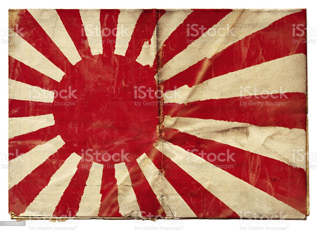 Japanese Naval Ensign (XXL) stock photo