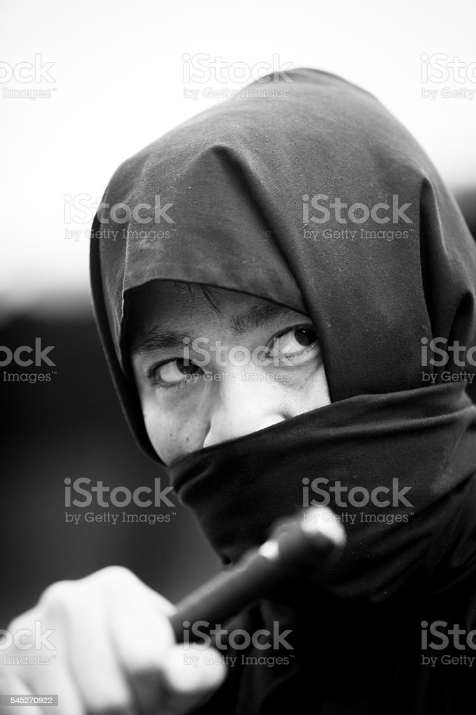 Japanese Ninja stock photo