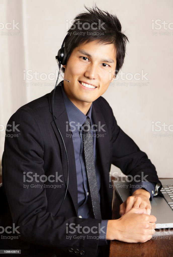 Japanese Office Worker royalty-free stock photo