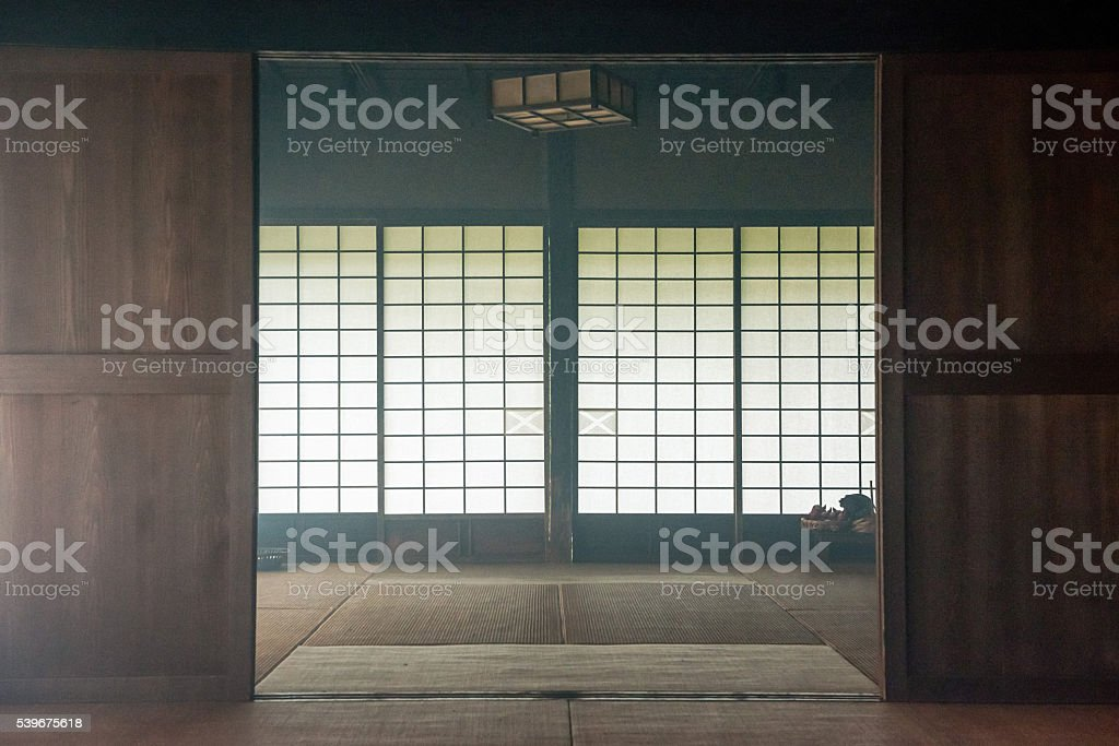 Japanese old private house stock photo