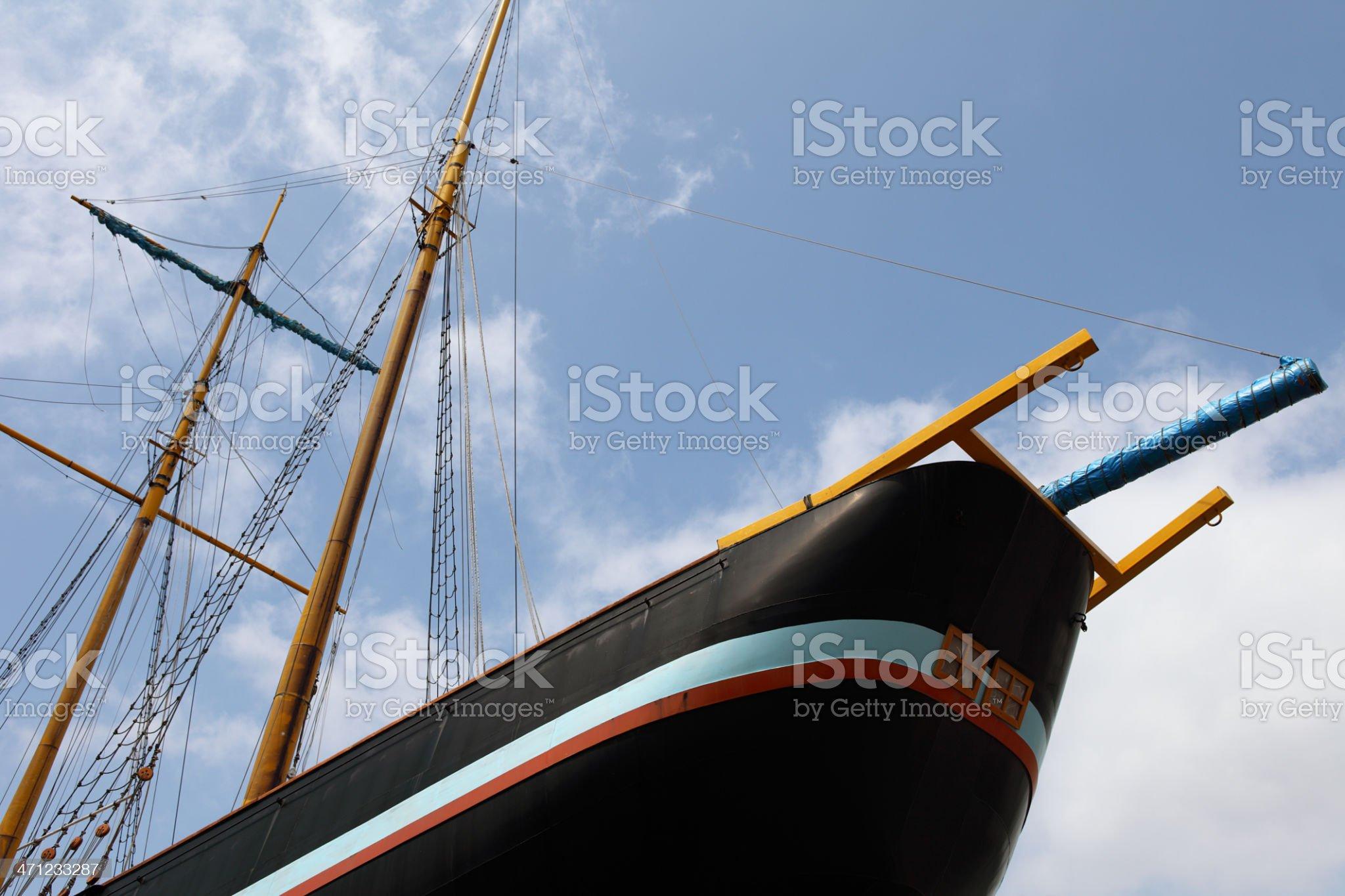 Japanese old warship royalty-free stock photo
