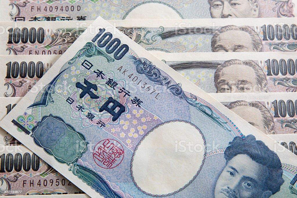 Japanese One thousand Yen stock photo