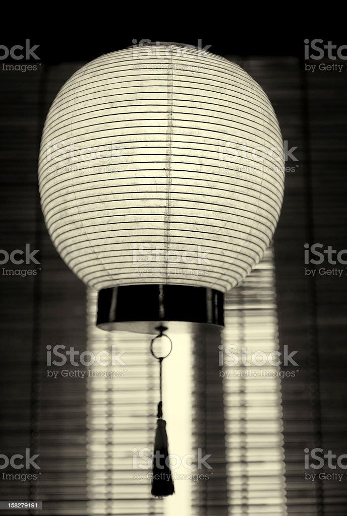 Japanese paper lantern royalty-free stock photo