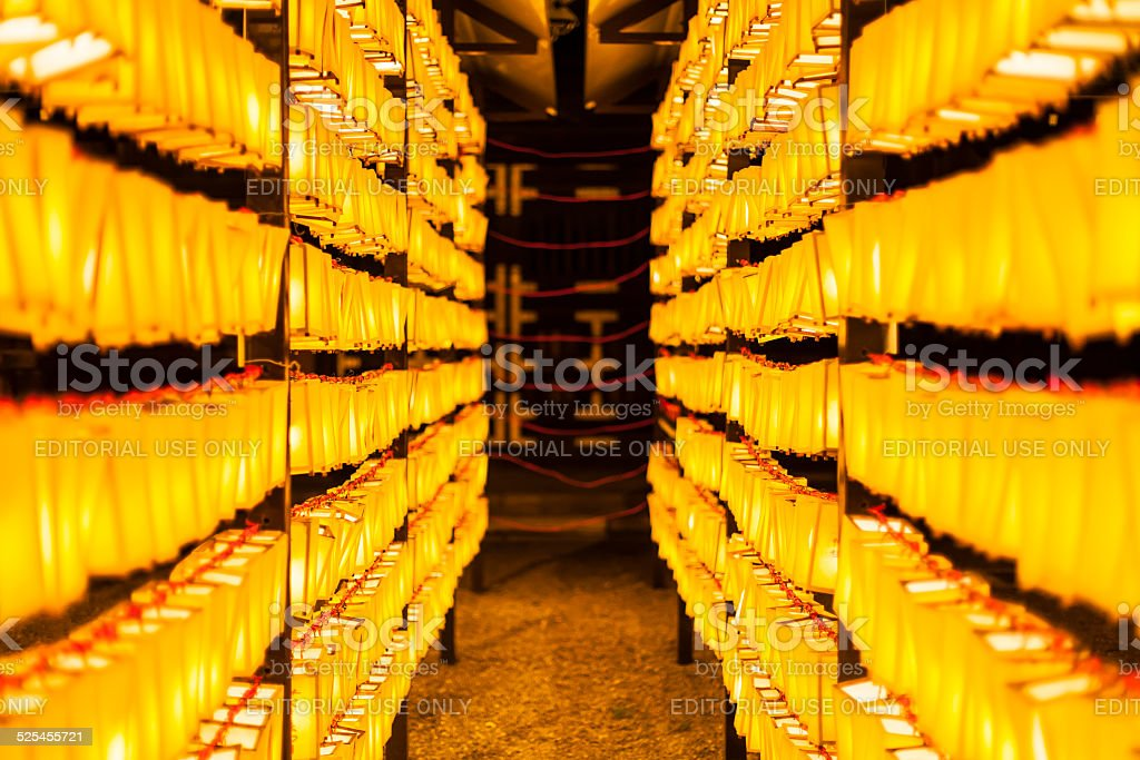 Japanese Paper Lanterns stock photo