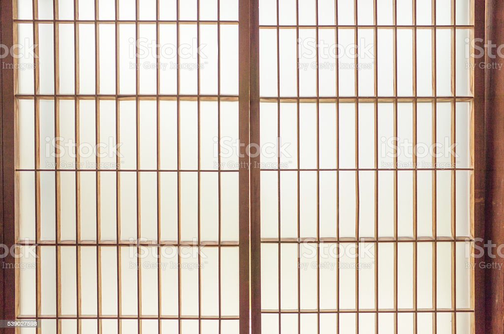 Japanese Paper Window stock photo