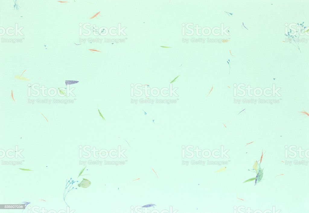 Japanese paper with plant ornament. stock photo