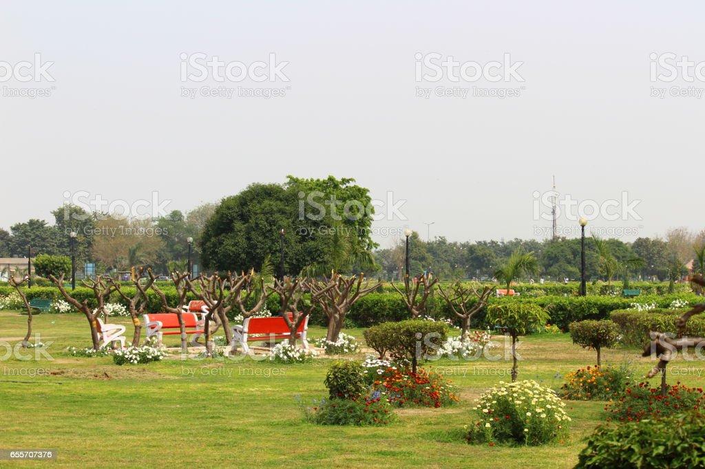 Japanese Park, Rohini, New Delhi stock photo