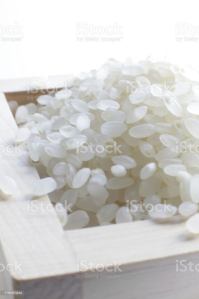 Japanese pearl rice stock photo