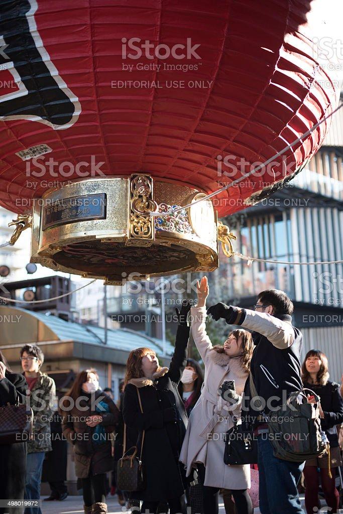 일본 사람들은 Sensoji 관자놀이, Asakusa, Tokyo royalty-free 스톡 사진