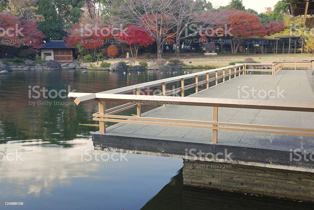 Japanese pond royalty-free stock photo