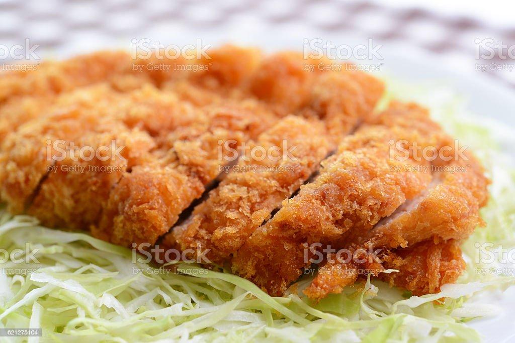 Japanese pork cutlet stock photo