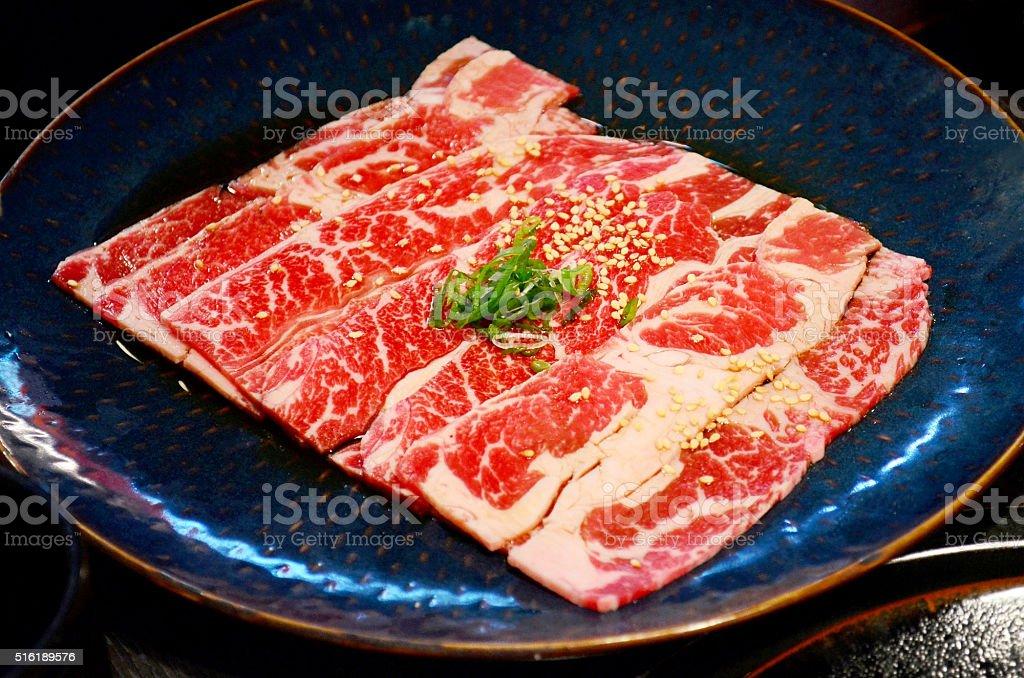 Japanese Prime grade beef Wagyu stock photo
