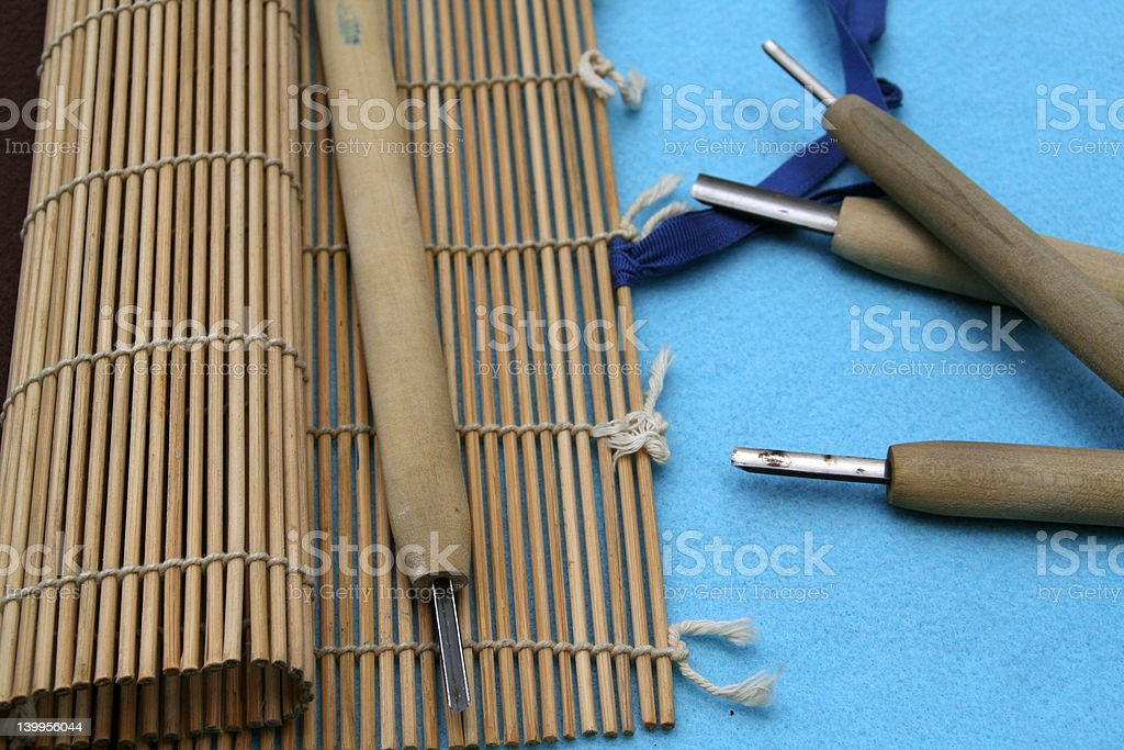 Japanese Printmaking Tools stock photo