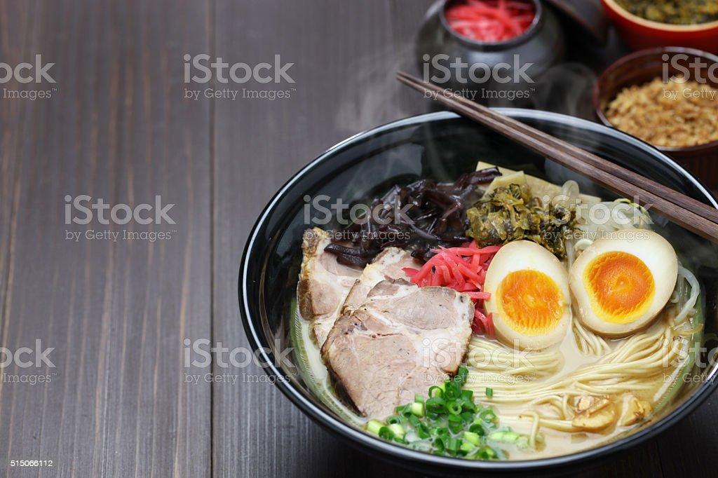 japanese ramen noodles stock photo