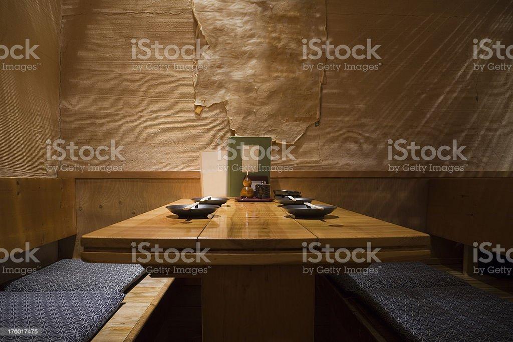 Japanese Restaurant Interior royalty-free stock photo