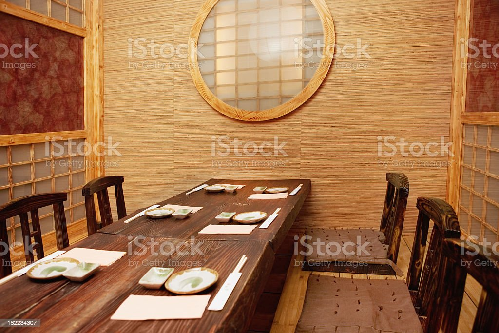 Japanese restaurant royalty-free stock photo
