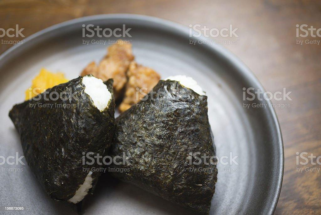 Japanese Rice Ball ONIGIRI (お握り or 御握り; おにぎり) royalty-free stock photo