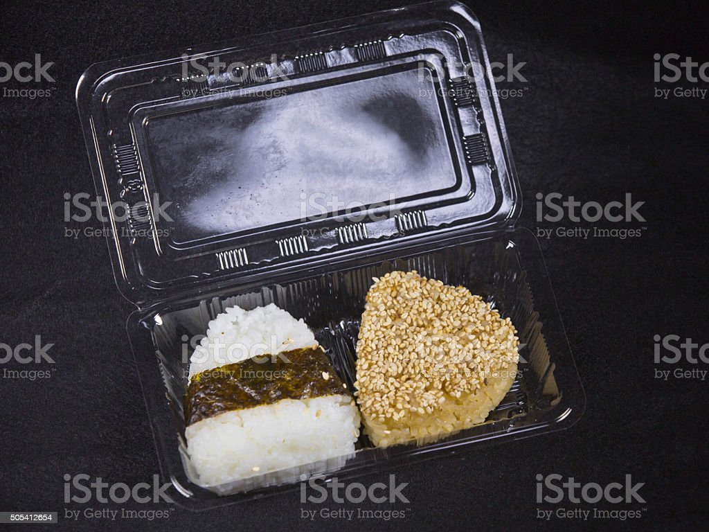 Japanese rice balls stock photo