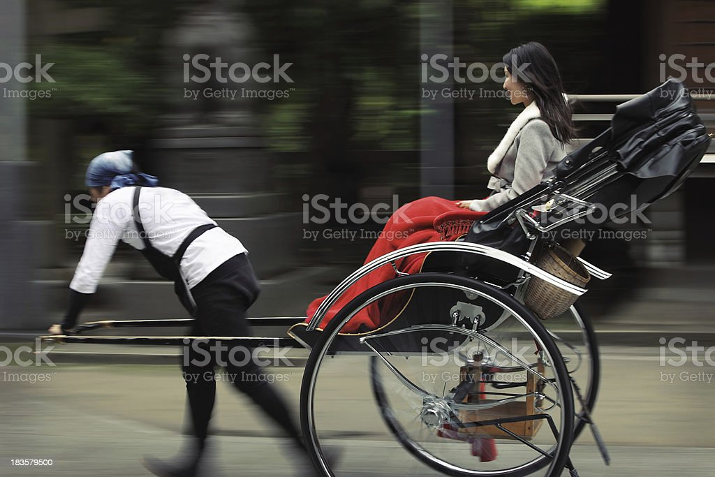 Japanese Rickshaw, Tokyo, Japan stock photo