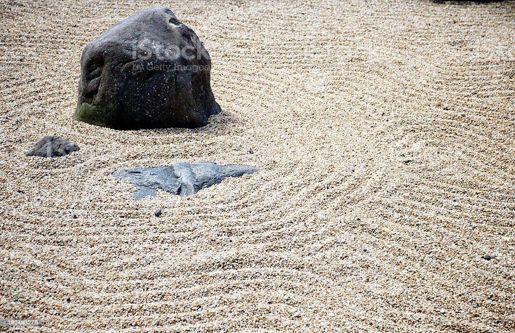 Japanese Rock Garden royalty-free stock photo