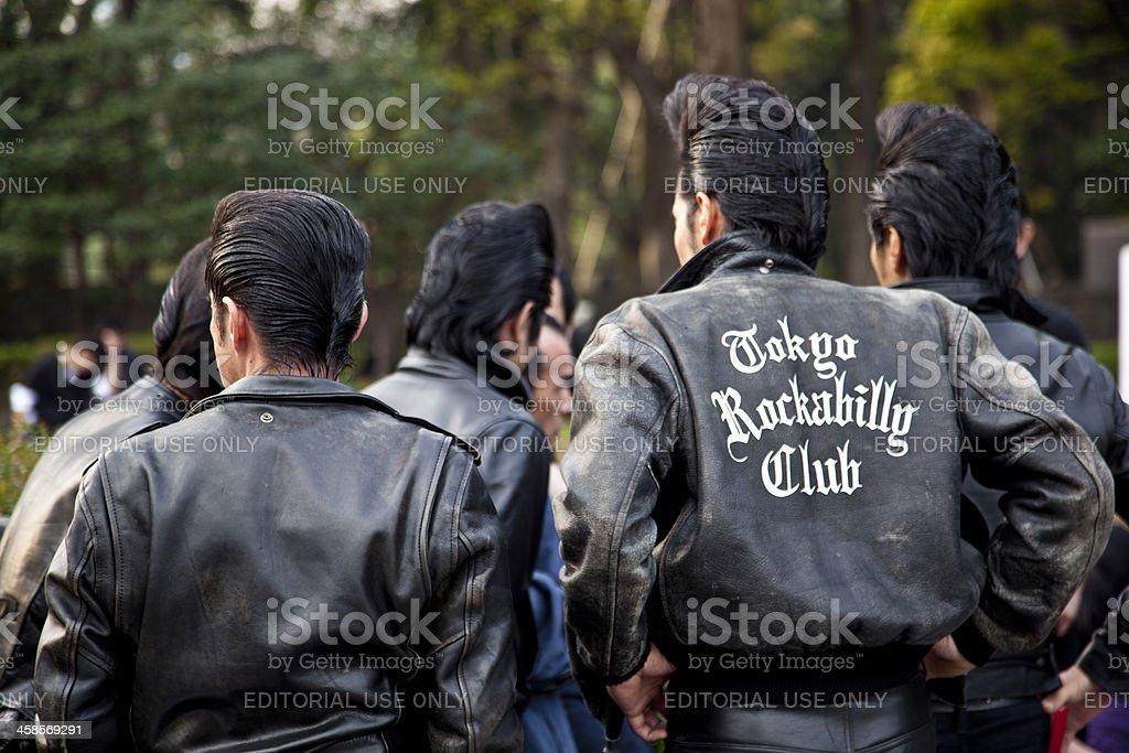japanese rockabilly group stock photo