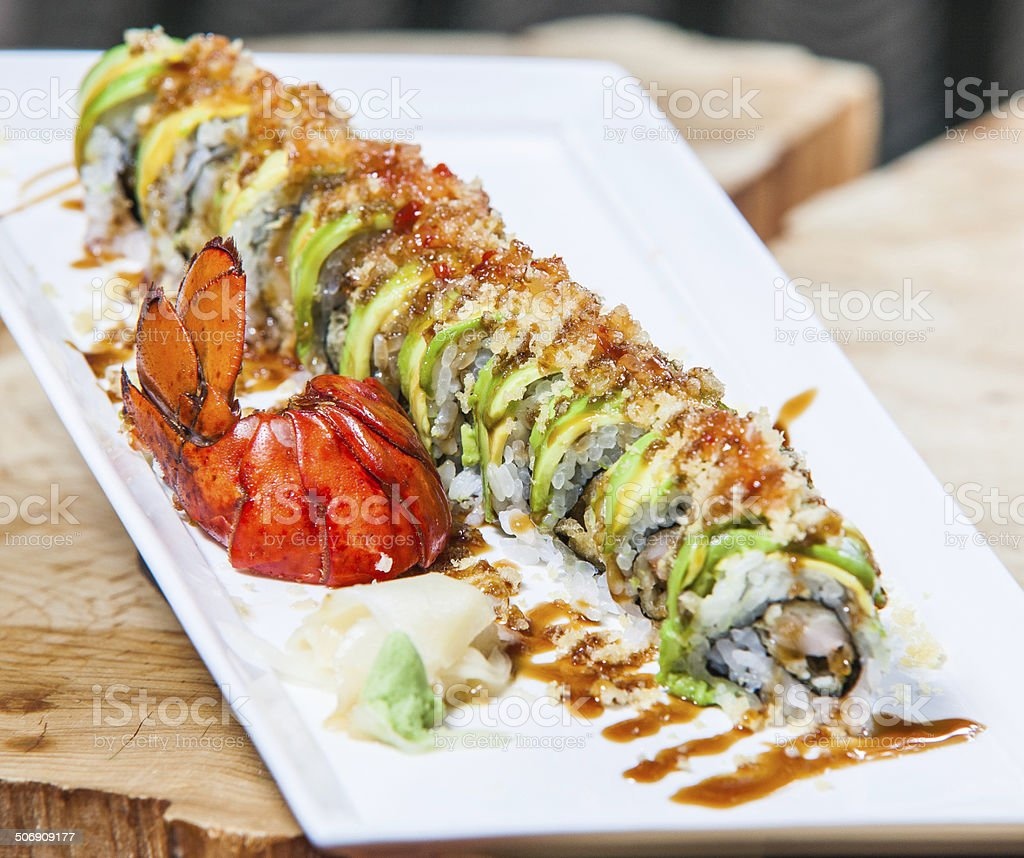 Japanese Roll royalty-free stock photo