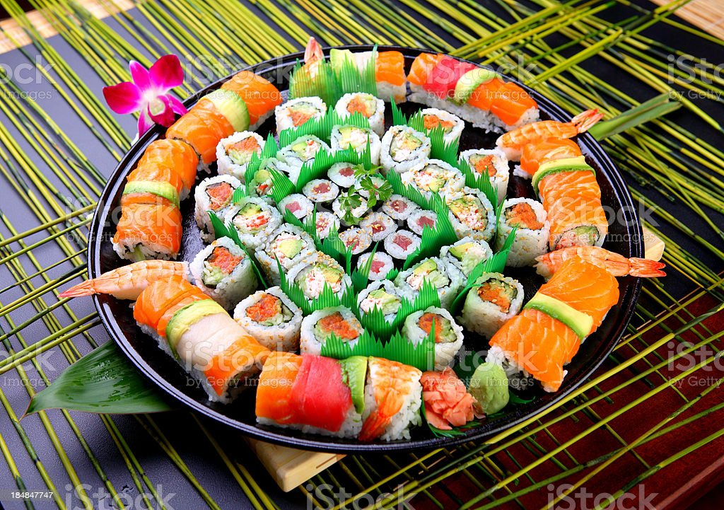 Japanese Roll Tray royalty-free stock photo