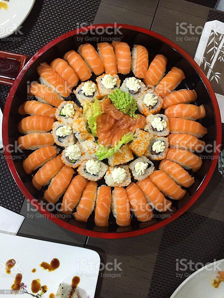 Japanese Roll Tray stock photo