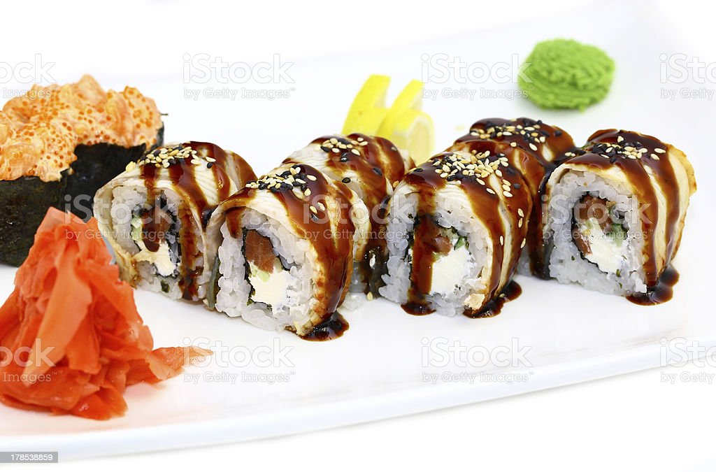 Japanese rolls royalty-free stock photo