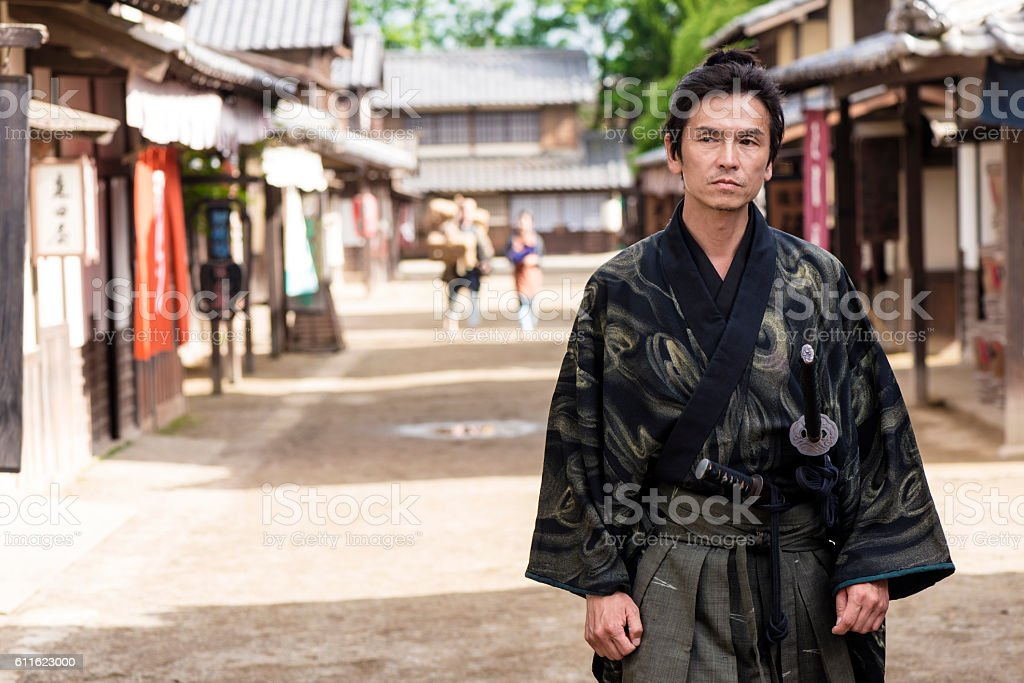Japanese Ronin stock photo