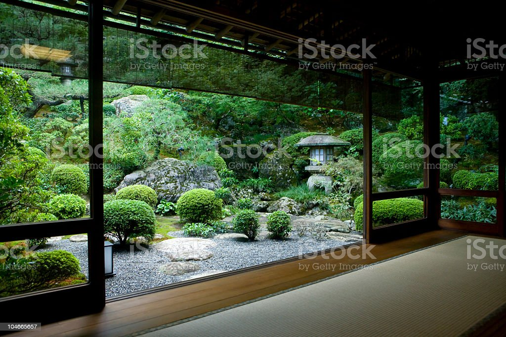 Japanese Room with a View stock photo