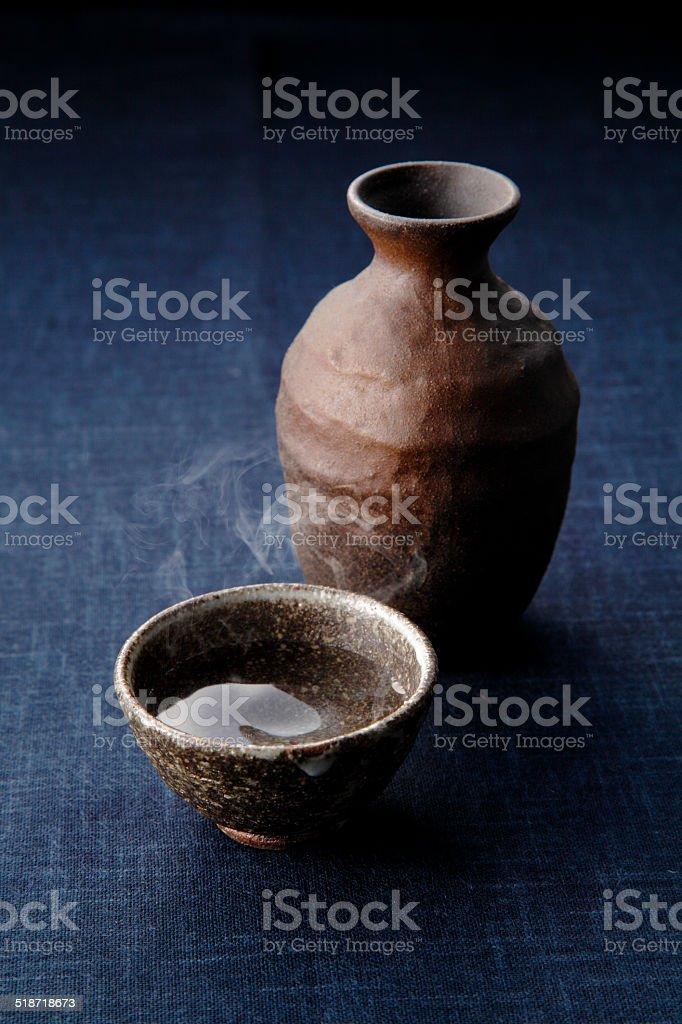 Japanese sake stock photo
