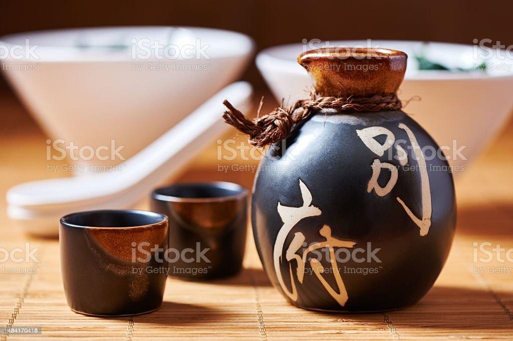 Japanese Sake set stock photo
